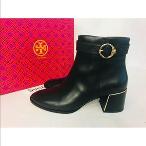 Tory Burch Sofia 60mm Black Calf Leather Bootie
